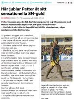 Petter Jonsson skriker ut sin lycka efter vunnit SM-guld